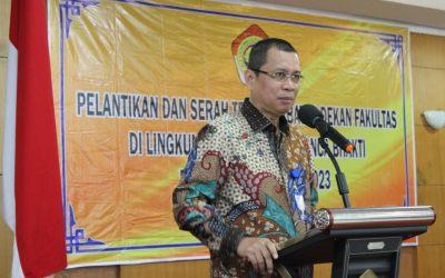 Lantik Dekan Baru, Professor Garuda Wiko Yakin Masa Depan UPB Semakin Cerah