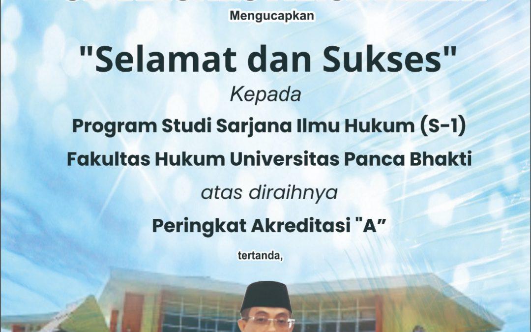 Selamat! Prodi Ilmu Hukum UPB Terakreditasi A